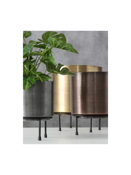Set de maceteros de metal Dean, 3pzas., Metal, Multicolor, Set de diferentes tamaños
