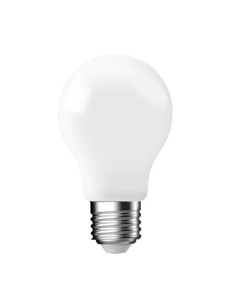 Bombillas E27, 470lm, blanco cálido, 3uds., Ampolla: vidrio, Casquillo: aluminio, Blanco, Ø 6 x Al 10 cm
