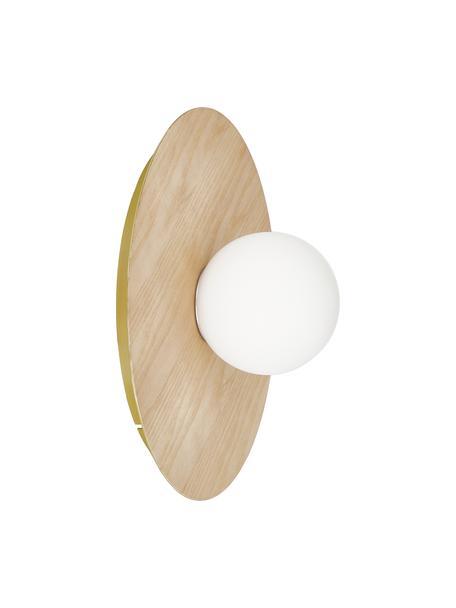 Kinkiet/lampa sufitowa z imitacji drewna Starling, Brązowy, Ø 33 x W 14 cm