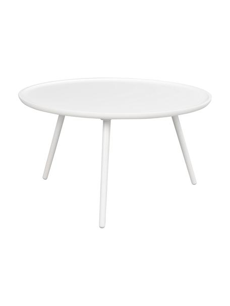 Couchtisch Daisy in Weiß, Tischplatte: Mitteldichte Holzfaserpla, Beine: Gummibaumholz, lackiert, Weiß, Ø 80 cm