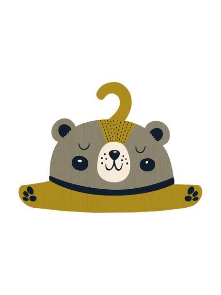 Appendiabiti Bear, Compensato, rivestito, Greige, giallo senape, nero, crema, Larg. 30 x Alt. 30 cm