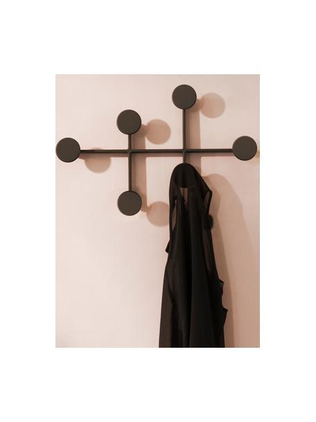 Perchero de pared de diseño Afternoon, Acero con pintura en polvo, Negro, An 37 x Al 24 cm