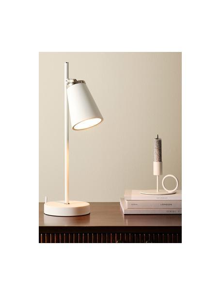Kerzenhalter Reggie, 2 Stück, Metall, Weiß, 12 x 9 cm