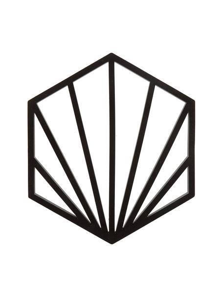Siliconen panonderzetters Shell, 2 stuks, Siliconen, Zwart, 16 x 1 cm