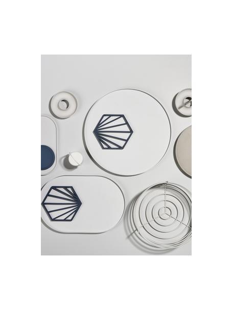 Podstawka pod gorące naczynia z silikonu Shell, 2 szt., Silikon, Czarny, S 16 x W 1 cm