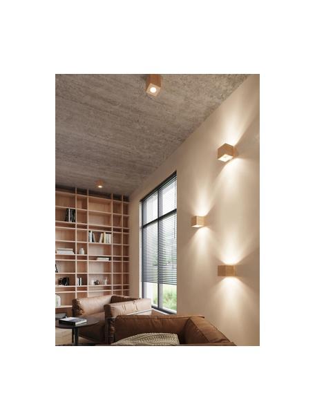 Kinkiet Quad, Drewno naturalne, Beżowy, S 10 x W 10 cm