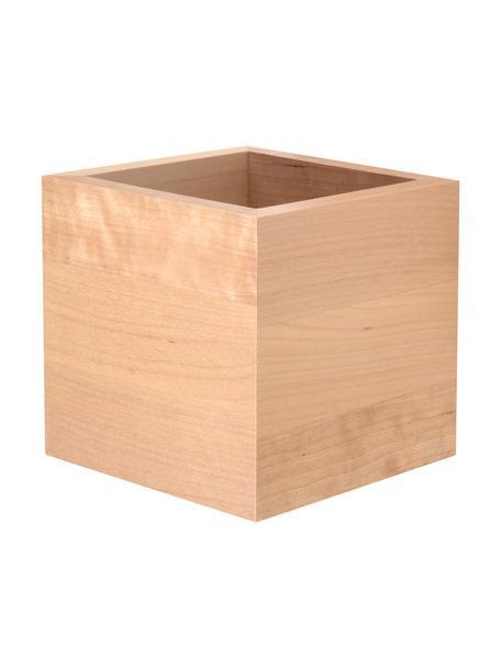 Wandleuchte Quad aus Holz, Lampenschirm: Holz, Beige, 10 x 10 cm