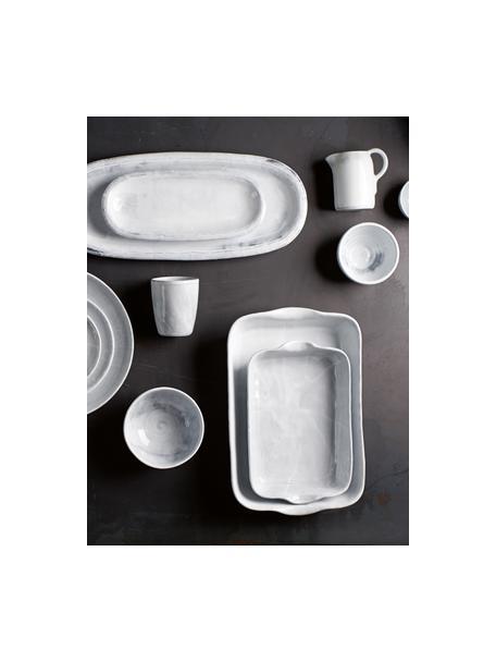 Tezza in ceramica Haze 2 pz, Ceramica, smaltata, Bianco, grigio, Ø 10 x Alt. 11 cm