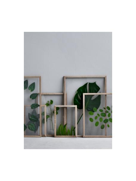 Fotolijstje Frame, Frame: onbehandeld eikenhout, Lijst: eikenhoutkleurig. Ophanging: zwart. Voor- en achterzijde: transparant, 17 x 23 cm