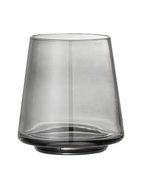 Wassergläser Yvette in Grau, 4 Stück, Glas, Grau, Ø 10 x H 10 cm