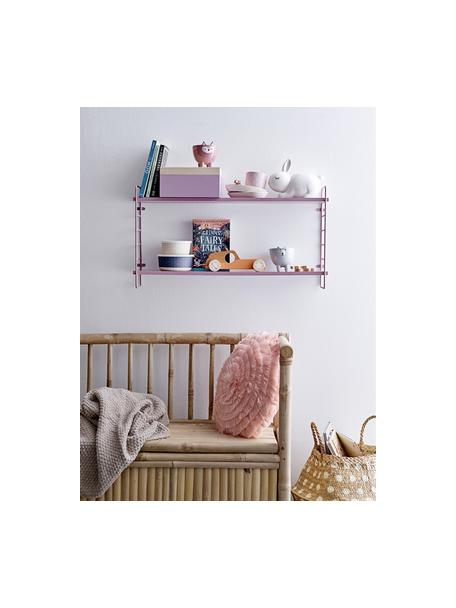 Estante de pared Kimi, Estantería: tablero de fibras de dens, Rosa, An 65 x Al 35 cm