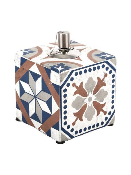 Lámpara de aceite Tiles, Acero inoxidable, hormigón pintado, Multicolor, An 13 x Al 17 cm