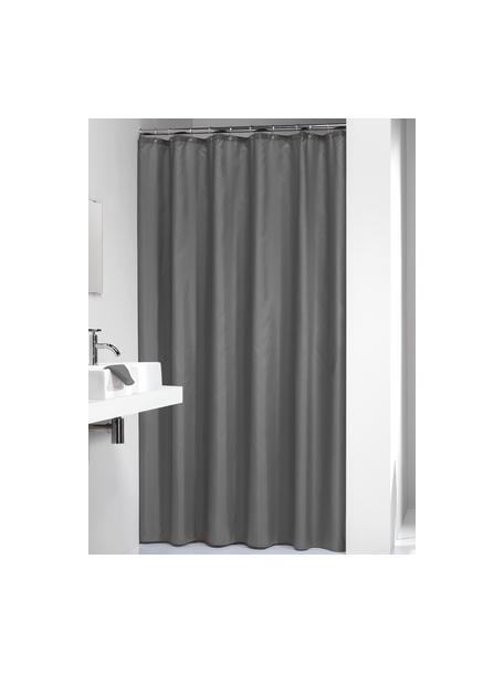 Cortina de baño Madeira, 100%poliéster Repelente al agua, no impermeable, Gris oscuro, An 180 x L 200