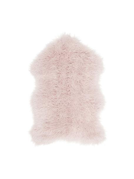 Sztuczne futro Morten, kręcone, Blady różowy, S 60 x D 90 cm
