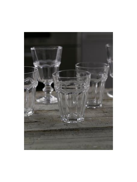 Waterglazen Floyd met gespiegeld reliëf in landelijke stijl, 6 stuks, Glas, Transparant, Ø 9 x H 11 cm