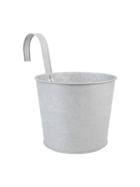 Portavaso con gancio Clara, Metallo zincato, Grigio, Larg. 28 x Alt. 25 cm