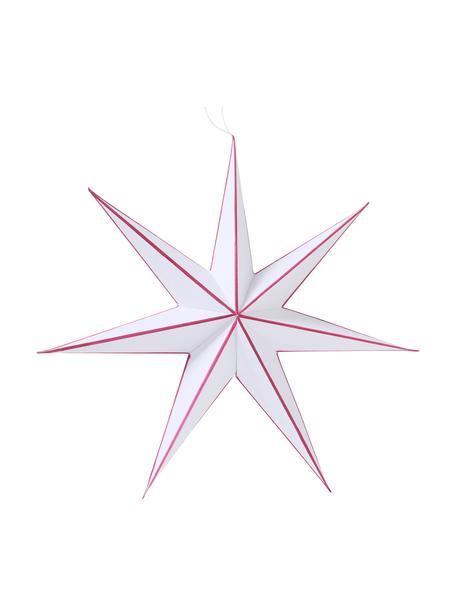 Stern-Anhänger Favola in Weiß Ø 40 cm, Papier, Weiß, Rot, Ø 40 cm
