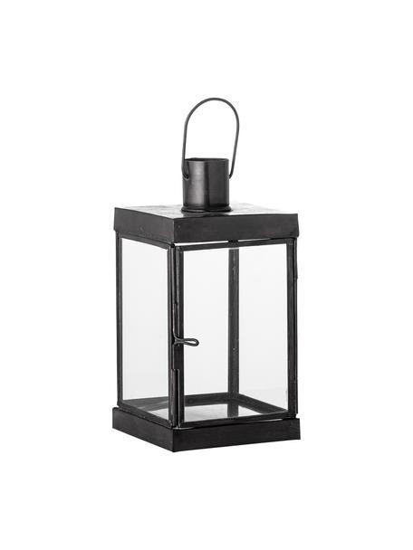 Lanterna in metallo Kefas, Struttura: metallo rivestito, Nero, Larg. 9 x Alt. 16 cm