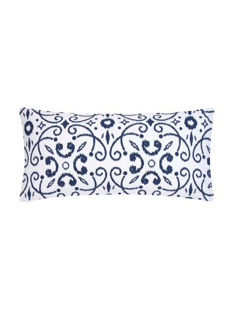 Poszewka na poduszkę z bawełny Ashley, 2 szt., Biały, niebieski, S 40 x D 80 cm
