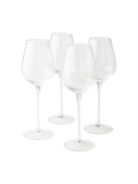Copas de vino blanco Akia, 4 uds., Vidrio, Transparente, Ø 8 x Al 24 cm