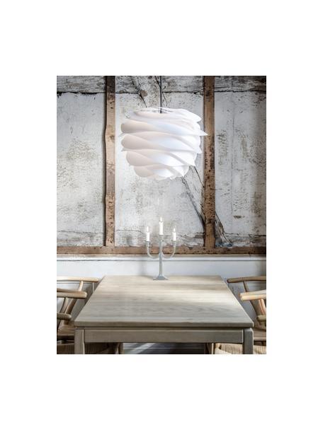 Hanglamp Carmina, bouwpakket, Lampenkap: polypropyleen, Wit, Ø 48  x H 36 cm