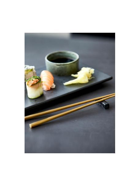 Goudkleurige eetstokjes Chop met planken, 2 paar, Goudkleurig, zwart, L 26 cm