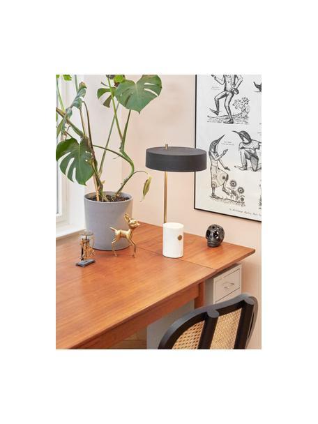 Große Tischlampe Phant mit Marmorfuß, Lampenschirm: Metall, beschichtet, Lampenfuß: Marmor, Weiß, Schwarz, 30 x 53 cm