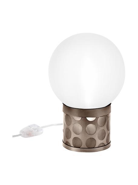 Lampa stołowa z funkcją przyciemniania Atmosfera, Brązowy, biały, S 20 x W 30 cm