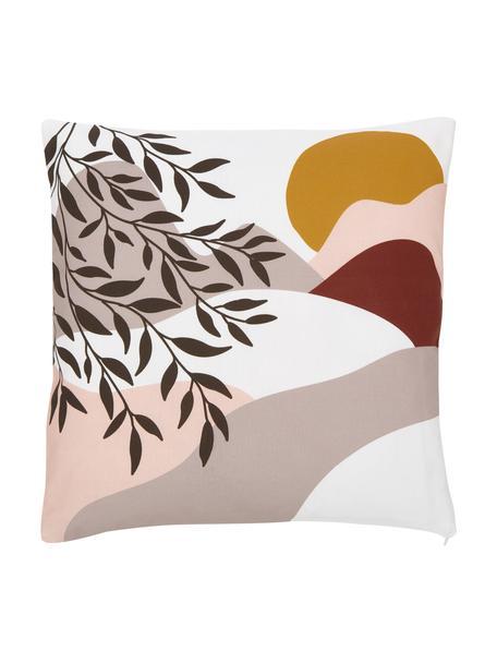 Kissenhülle Mattia mit sommerlichem Motiv, 100% Baumwolle, GOTS-zertifiziert, Mehrfarbig, 45 x 45 cm