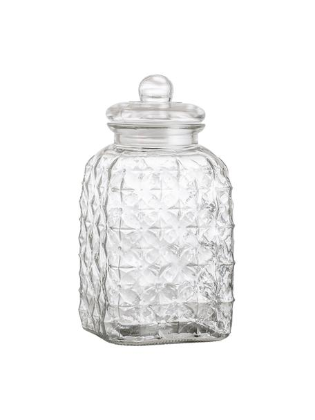 Barattolo in vetro Negan, Vetro, silicone, Trasparente, 4.5 L