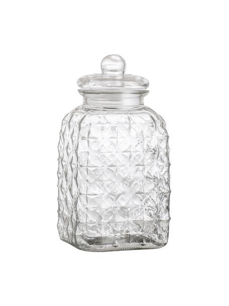 Glazen opbergpot Negan, Glas, siliconen, Transparant, 4.5 L