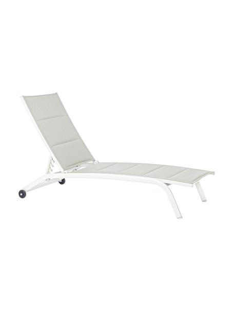 Zonnebed Cleopas in wit, Bekleding: 100% polyester, Frame: gepoedercoat aluminium, Wit, 61 x 192 cm