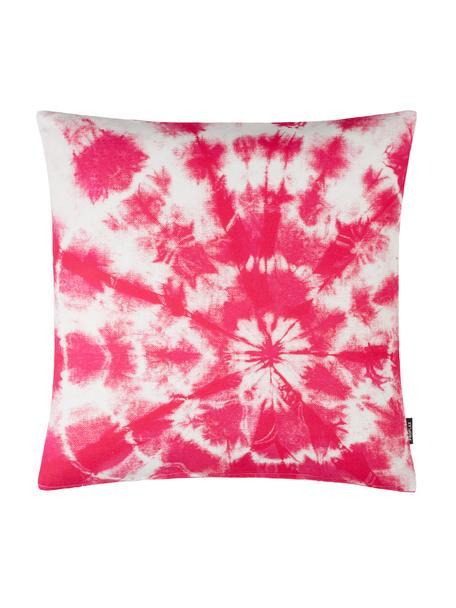 Federa arredo con stampa batik Barbados, 100% cotone, Rosa, Larg. 50 x Lung. 50 cm
