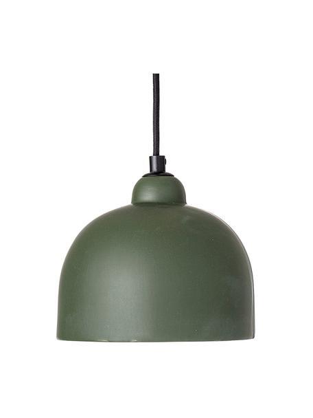 Kleine Pendelleuchte Sina aus Steingut, Lampenschirm: Steingut, Baldachin: Metall, beschichtet, Grün, Ø 18 x H 16 cm