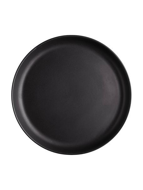 Platos postre Nordic Kitchen, 4uds., Gres, Negro, mate, Ø 21 cm