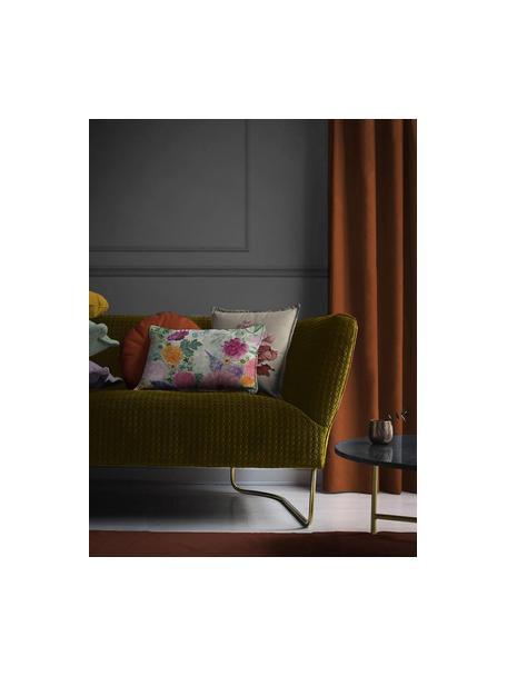 Cojín The Flower, con relleno, Funda: terciopelo, Multicolor, An 45 x L 45 cm