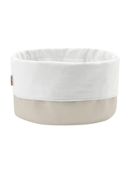 Panera de lino Oleg, 100%lino de algodón, Arena, blanco, Ø 23 x Al 21 cm