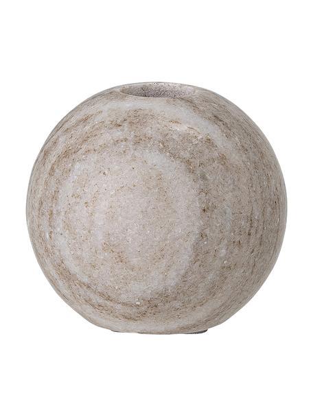 Marmeren kandelaar Delil, Gepolijst marmer, Bruin, Ø 8 x H 8 cm