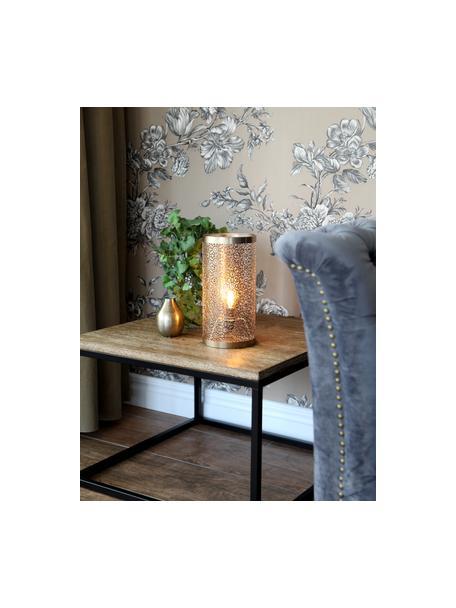 Lámpara de mesa pequeña Hermine, estilo boho, Pantalla: latón, Latón mate, Ø 14 x Al 28 cm