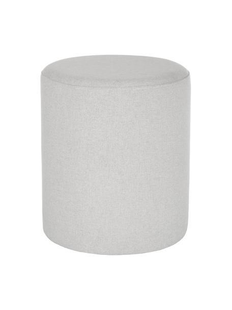 Hocker Daisy in Hellgrau, Bezug: 100% Polyester Der hochwe, Rahmen: Sperrholz, Webstoff Grau, Ø 38 x H 45 cm