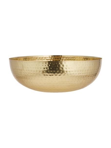 Große Schale Zana, Eisen, lackiert und gehämmert, Goldfarben, Ø 35 x H 13 cm