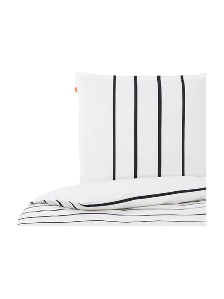 Pościel z bawełny Blush, Biały, blady różowy, czarny, 140 x 200 cm