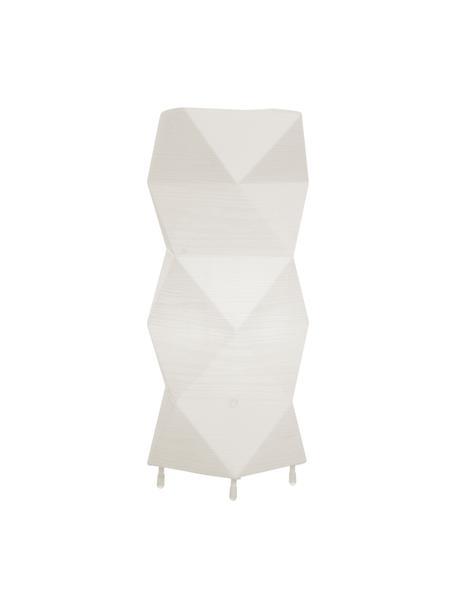 Tischlampe Veck mit 3D-Effekt, Lampenschirm: Kunststoff, Weiß, 16 x 37 cm