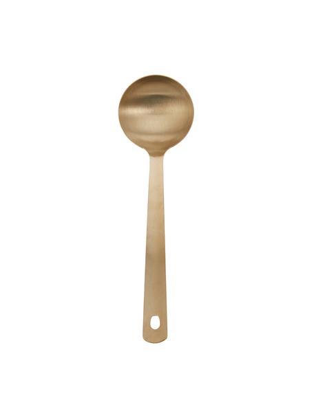 Cucharón Goldies, Acero inoxidable recubierto, cepillado, Latón mate, An 6 x L 32 cm