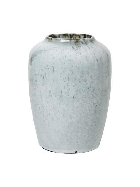 Jarrón de cerámica Lem, Cerámica, Azul claro, Ø 19 x Al 25 cm