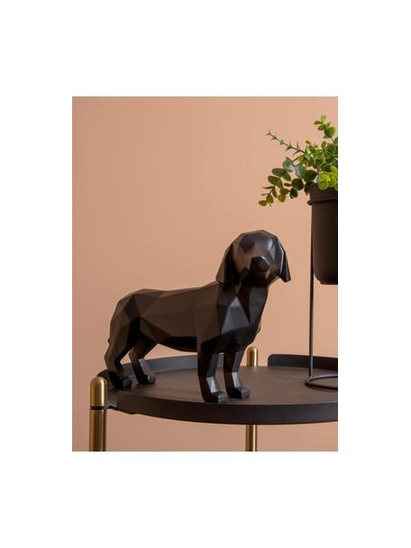 Deko-Objekt Origami Dog, Kunststoff, Schwarz, 30 x 21 cm