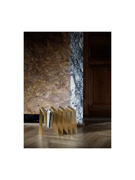 Zeitschriftenhalter Curve, Eisen, beschichtet, Goldfarben, 41 x 30 cm