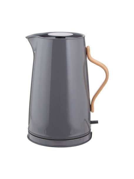 Bollitore elettrico in grigio Emma, Manico: legno di faggio, Grigio, 1,2 L
