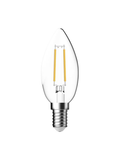 Lampadina E14, 250lm, bianco caldo, 2 pz, Paralume: vetro, Base lampadina: alluminio, Trasparente, Ø 4 x Alt. 10 cm