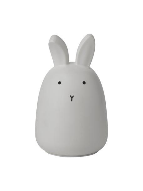 Oggetto luminoso a LED Winston Rabbit, 100% silicone, Grigio, Ø 11 x Alt. 14 cm
